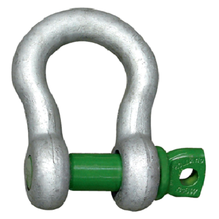 Green Pin Grade S Screw Pin Bow Shackles